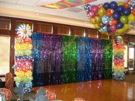 disco backdrop groovy theme party  balloon drop