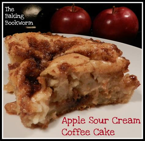 This sour cream coffee cake, made with a simple batter, comes out rich, moist, and perfectly sweetened, served with an easy glaze. The Baking Bookworm: Apple Sour Cream Coffee Cake