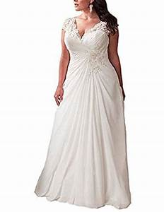 yipeisha women39s elegant applique lace wedding dress v With amazon wedding dresses plus size