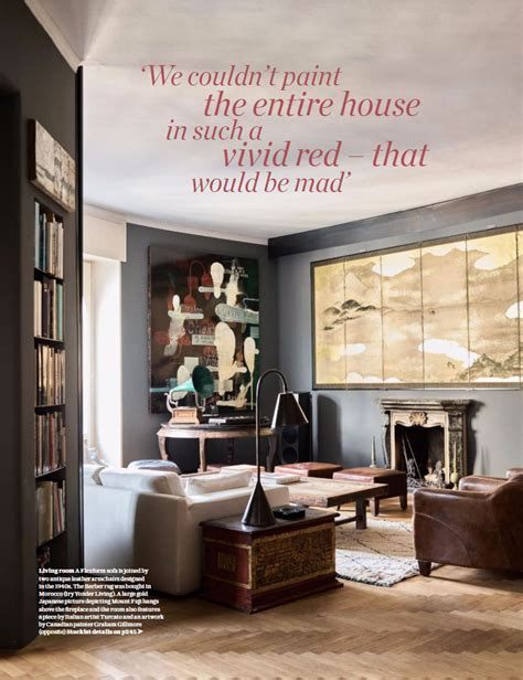 Living Room Painted in Farrow & Ball Down Pipe   Interiors