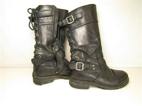 Harley Davidson Womens Tall Leather Alexa Motorcycle Boots