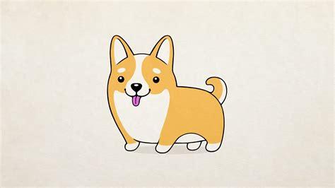 cute drawn dog pencil   color cute drawn dog