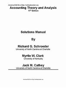 Solution Manual For Financial Accounting Theory And