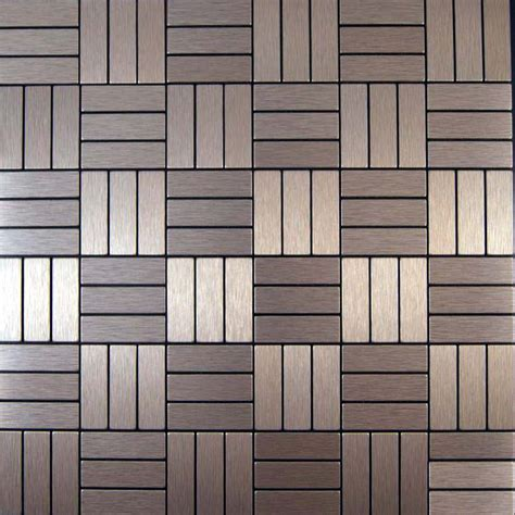 Metal Adhesive Backsplash Tiles by Save 11 Sheets Brushed Copper Color Aluminium Metal