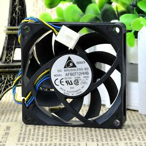 delta dc brushless cpu cooling fan afb0712hhb 0 45a 4 wire 70x70x15mm