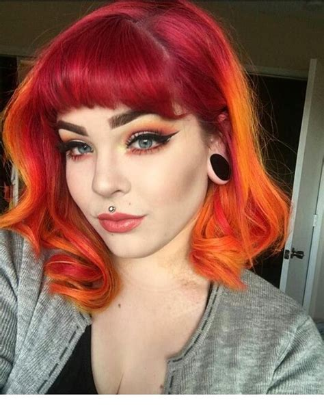 Pin By Hayden On Hair In 2019 Orange Ombre Hair Sunset