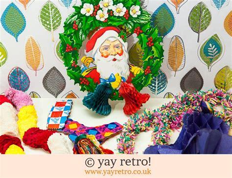 vintage paper xmas decorations  buy yay retro