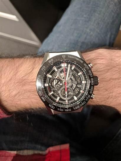 45mm Tag Carrera Wrist Chronograph Too Calibre