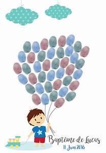 Arbre A Empreintes : arbre empreintes bapt me petit gar on ballons cadeau de ~ Farleysfitness.com Idées de Décoration