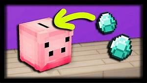 Faire Une Tirelire : comment faire une tirelire cochon fonctionnelle dans minecraft tuto build youtube ~ Nature-et-papiers.com Idées de Décoration