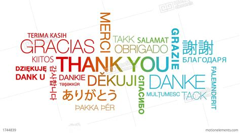 Thank You In Different Languages Stock Animation 1744839