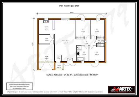 plan maison 100m2 plein pied 3 chambres plans de maisons constructeur deux sèvres