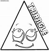 Triangle Coloring Pages Colorings sketch template