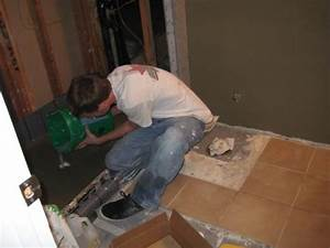 laying a bathroom tile floor one house one couple With laying on the bathroom floor