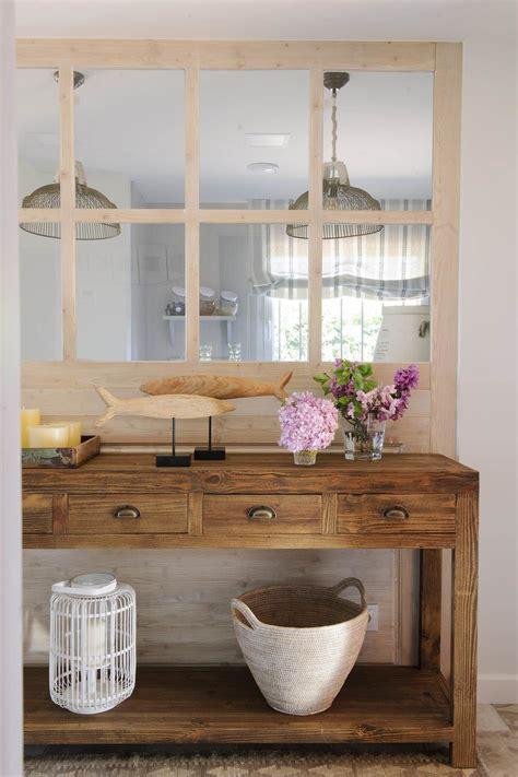 dos maderas en una en  ideas decoracion entradas