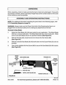 Unpacking  Assembly And Operating Instructions