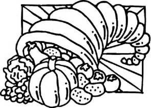 free coloring pages thanksgiving cornucopia coloring pages