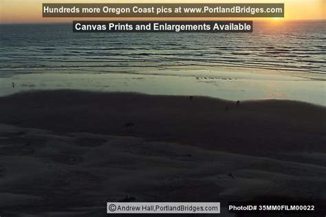 Newport Oregon Nye Beach Sunset Photo Mmfilm