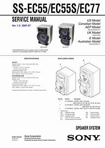 Sony Ss-ec55s Service Manual