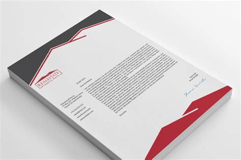 real estate letterhead examples templates