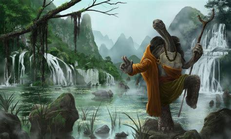 Kung Fu Panda Turtle Warrior River Cartoon Fantasy