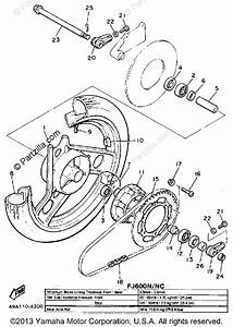 Yamaha Motorcycle 1985 Oem Parts Diagram For Rear Wheel