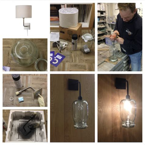 ikea l shade hack alang wall sconce with jar shade ikea hackers ikea hackers