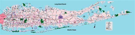 long island road map map  long island road  york