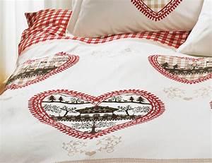Bettwäsche Mit Herzen : bettw sche mit herzen im rot weissem karo design g nstig ~ Watch28wear.com Haus und Dekorationen