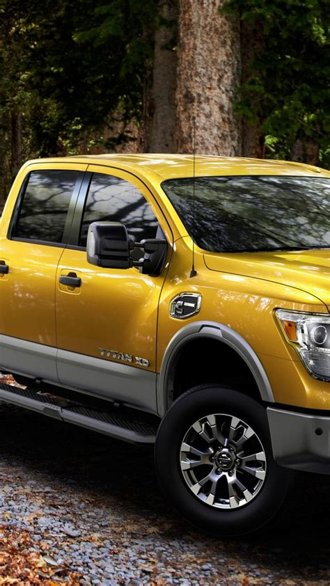 wallpaper nissan titan pickup suv yellow  cars