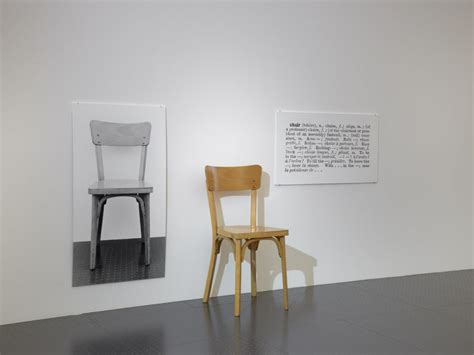 Joseph Kosuth One And Three Chairs by A Chair Is A Chair Is A Chair Centre Pompidou Metz