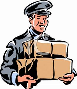 Royalty Free Courier Clip art, Occupations Clipart