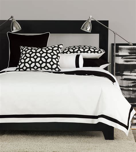 black and white bed linen niche luxury bedding by eastern accents palmer collection