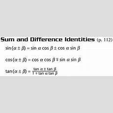 Precalculus Formulas  Pre Cal With  At Collin County Community College (tx) Studyblue