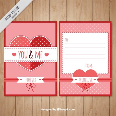 romantic love letter template vector