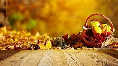 Autumn Leaves Harvest Desktop Pumpkin Wallpapers Basket