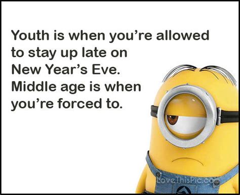 funny happy  years eve minion quote pictures