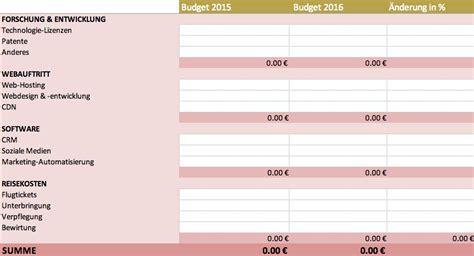kostenlose excel budget vorlagen fuer budgets aller art
