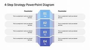 4-step Strategy Diagram Design For Powerpoint