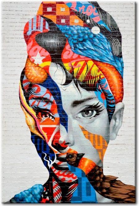 cuadro mujer liberada en  arte urbano arte