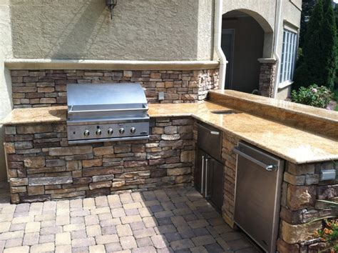 outdoor kitchens traditional patio other by lake