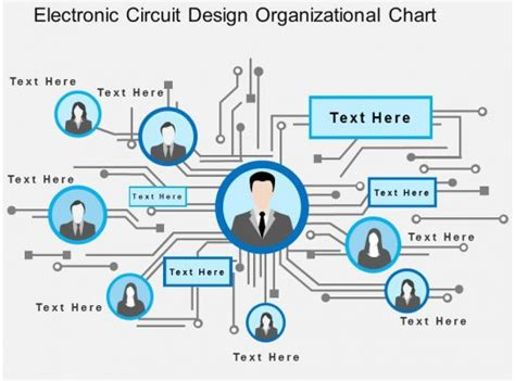 electronic circuit design organizational chart flat powerpoint design powerpoint templates