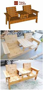 Diy outdoor patio furniture ideas instructions patio for Homemade furniture instructions