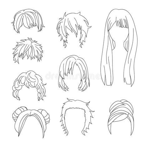Dessin Coupe De Cheveux Homme La Coiffure De Collection Pour Le Dessin De Cheveux De L Homme Et De Femme A Plac 233 2