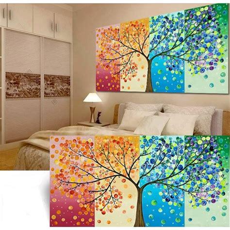 Diy Handmade Colorful Season Tree Counted Cross Stitch