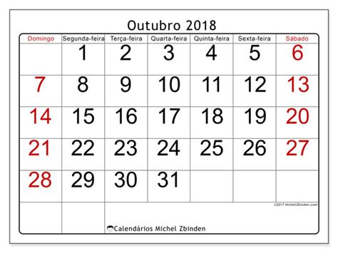 calendarios outubro ds michel zbinden pt