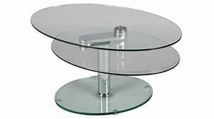 Table Basse En Verre Pas Cher : table basse ovale en verre table basse design pas cher ~ Melissatoandfro.com Idées de Décoration