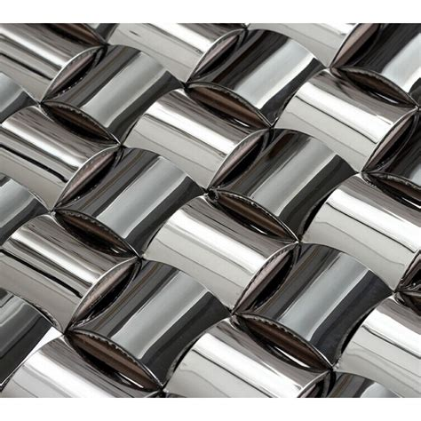 stainless steel tile glossy stainless steel mosaic tile interlocking arched