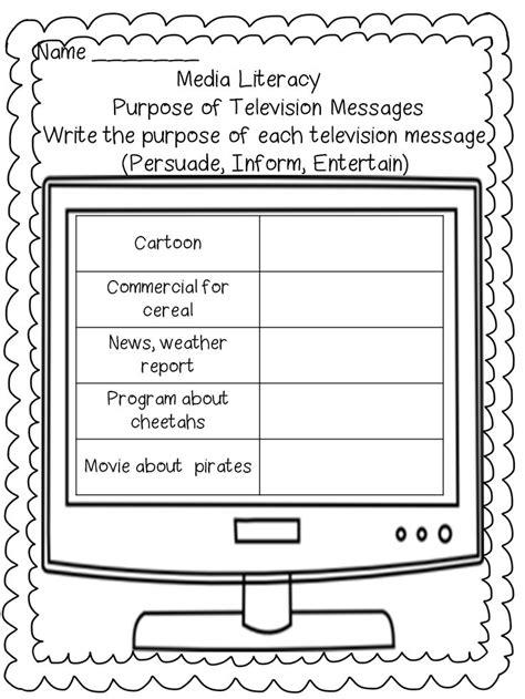 media literacy worksheets for grade 1 best 25 media literacy ideas on marketing vs