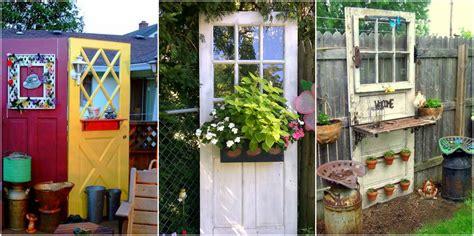 Gartendekoration Vintage by Vintage Gartendeko Aus Alten Fenstern Und T 252 Ren